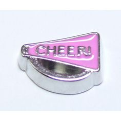 Cheerleader Megaphone Locket Charm that fits brands including Origami Owl & My Journey Locket. Enamel Cheerleader Megaphone on zinc alloy. Great looking charms that don't cost a fortune.