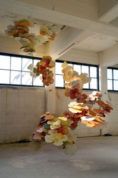 Joris Kuipers – An absence which attracts floral blooming softly Paper Installation, Artistic Installation, Abstract Sculpture, Sculpture Art, Textiles, Textile Art, Art Inspo, Flower Art, Decoration