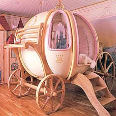 Cinderella Bed Unique pumpkin carriage bed inspired by the Cinderella fairy tale.