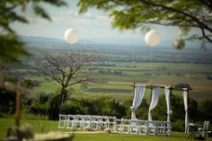 Styled rustic outdoor wedding ceremony by Willow Tree Creative tree creativ, willow tree