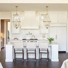 Ivory Kitchen with Ivory Glazed Stacked Backsplash Tiles