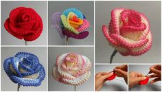 Roses are very symbolic flowers and we know them as queens of flowers. They are in nature in different colors and all of them are very beautiful. This post we have made today are those who loves roses and hobby is crocheting. We have great video tutorial where you can learn how to crochet these
