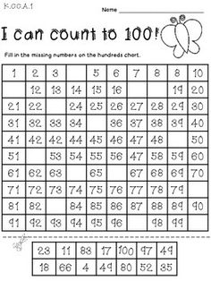 math worksheet : 1000 ideas about counting to 100 on pinterest  100th day 100  : Counting Worksheet Kindergarten