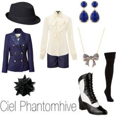 Casual cosplay of Ciel Phantomhive (from Black Butler or Kuroshitsuji anime series)-- character inspired outfit Anime Inspired Outfits, Character Inspired Outfits, Themed Outfits, Casual Cosplay, Cosplay Outfits, Anime Outfits, Cosplay Ideas, Black Butler Cosplay, Estilo Geek