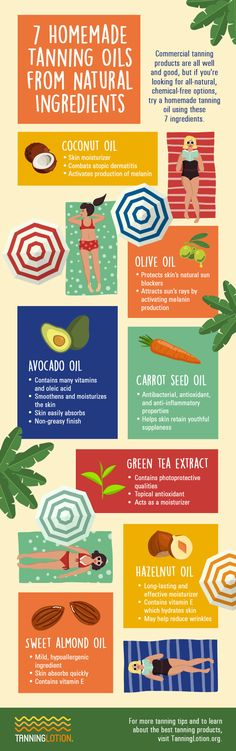 7 Homemade Tanning Oils From Natural Ingredients | If you're looking for all-natural, chemical-free option tanning oil, homemade tanning oils are your best bet. Here are some of the best ingredients to use! Tanning Oil Homemade, Homemade Tan, Natural Tanning Oil, Tanning Tips, Sun Tanning, Shark Fin, Shark Week, Carrot Seed Oil, Natural Skin