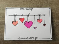 Kaartje handletter - Sketch noting and such - Postkarte Doodle Drawings, Easy Drawings, Doodle Art, Heart Doodle, Karten Diy, Watercolor Cards, Watercolor Lettering, Diy Cards, Homemade Cards