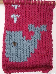 Cómo tejer dibujos en lana (intarsia)