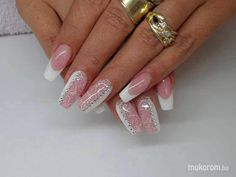modern french nails Tips French Nail Art, French Nail Designs, Creative Nail Designs, Best Nail Art Designs, Creative Nails, French Manicure Nails, French Tip Nails, Great Nails, Cute Nails