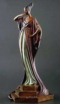 Art  Deco Erte An Evening in 1922 early Bronze Erté   15000.00