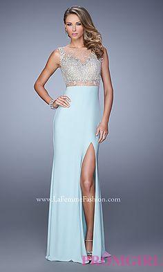 La Femme High Neck Prom Dress at PromGirl.com