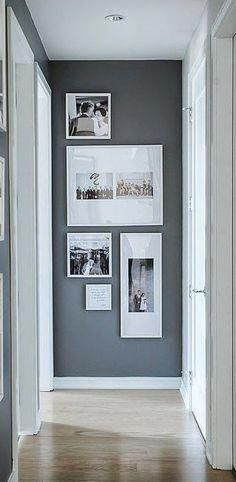 Nice 30 Beautiful Gallery Wall Decor Ideas To Show Photos. # Nice 30 Beautiful Gallery Wall Decor Ideas To Show Photos. Style At Home, Diy Casa, Retro Home Decor, Home And Deco, Decor Room, Hall Wall Decor, Stair Wall Decor, Wall Decor Frames, Grey Wall Decor