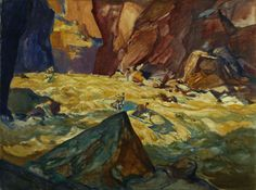 """Major Powell Descends the Colorado River through the Grand Canyon, 1869,"" Henry C. Pitz, ca. 1935-1939, oil on canvas, 30 1/8 x 40 1/4"", Smithsonian American Art Museum."