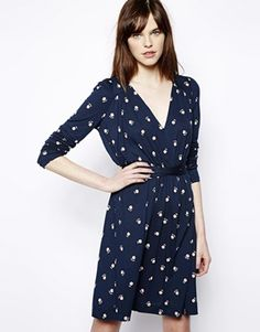 French+Connection+Long+Sleeve+Dress+In+Daisy+Print