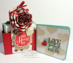 Stampin' Up! Valentine's Card Box Gifts Elaine's Creations inspired by Becky Roberts Tags 4 You, Scallop Tag Topper Punch