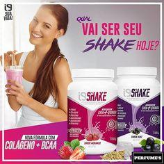 ✨✨ Qual vai ser seu shake hoje? Além de sabores deliciosos, os shakes i9 são enriquecidos com Quinoa + Chia + Colágeno + BCAA + Whey protein isolada. Seu consumo auxilia na perda, manutenção ou ganho de peso.  SHAKE+ Açaí 550g (R$169,00) SHAKE+ Morango 550g (R$169,00)   Compras pelo Site :   www.perfumesi9.com.br