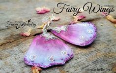 Orecchini Ali di Fata S925 farfalla rosa fucsia, by Evangela Fairy Jewelry, 14,00 € su misshobby.com