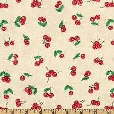 Sugar Rush The WorksCherries Cream - Discount Designer Fabric - Fabric.com