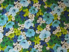 Vintage Fabric/By the Yard by kimmyzthings on Etsy