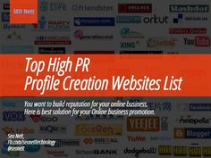 Find the best link building websites i.e. high page rank #profilecreationwebsites list 2015. Get in top of the #Google searches within 2 weeks.