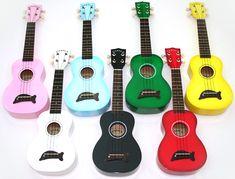 Rainbow of ukuleles!