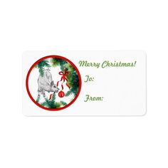 Goat Christmas Gift Tag Sticker Personalized Address Labels   #goat #GetYerGoat #goatlady #Christmas