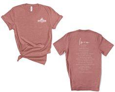 LOVE Scripture Two-Sided Unisex Tee - Heather Mauve / XL