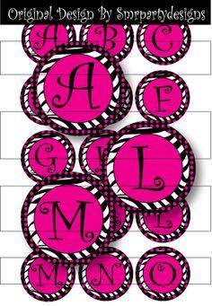 Bottle Cap Images Zebra  AZ Bottle Cap Images by smrpartydesigns, $1.99