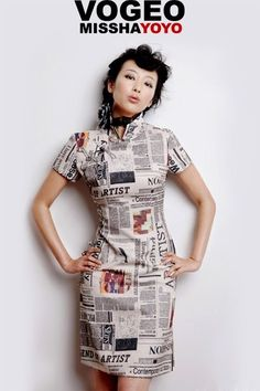 Check out this list of Creative Newspaper Craft Fashion Ideas, which look elegant and worth money instead of just recycled news paper. Wearing these newspaper dress, hat, earrings or hat, you can get smarter while looking pretty. Asian Fashion, Fashion Beauty, Girl Fashion, Fashion Design, Fashion Ideas, Chinese Fashion, Cheongsam, Elie Saab, Halloween Look