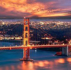 San Francisco at night by sanfranciscoworld #sanfrancisco #sf