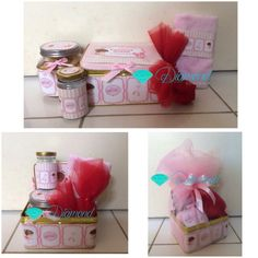 Baby girl one month hampers . Cookies home made by us .
