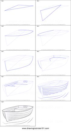 How to Draw Boat at Dock Printable Step by Step Drawing Sheet: DrawingTutorials . - Paint Emma Fisher Drawings - How to Draw Boat at Dock Printable Step by Step Drawing Sheet: DrawingTutorials … – - Drawing Skills, Drawing Lessons, Drawing Techniques, Pencil Art Drawings, Art Drawings Sketches, Easy Drawings, Boat Sketch, Water Sketch, Water Drawing