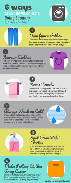 Laundry tips. Do you feel like you're constantly doing laundry? Follow the link to read more detail on cutting down the time you spend on this dreaded chore!