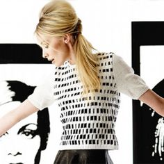 Knit a short-sleeved mono-print jumper:: Free UK knitting patterns :: Craft ideas :: UK knitting patterns