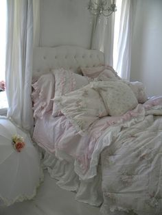 Sweet Shabby Chic Dreams...Drifting on a Bed of Clouds! See thefrenchinspiredroom.com