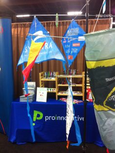 """Get your next promotion soaring with a custom kite.  All shapes, sizes and designs bring new meaning to business in """"the cloud."""" From Proinnovative"""