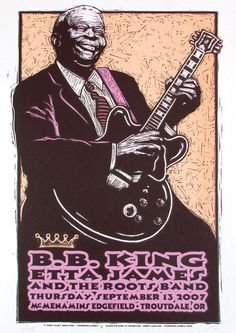 Bb King 2007 Repro Tour Poster