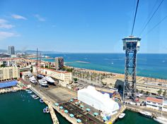 Riding the Teleférico to the Beach in Barcelona