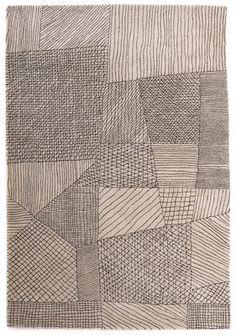 Tapis Traced / Exclusivité - 240 x 170 cm Crème - Nanimarquina