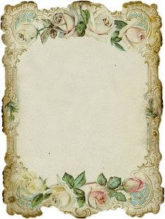 ohhh this is a beauty - vintage blank frame with roses