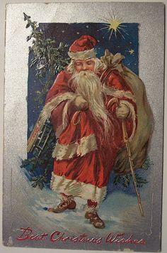 A Victorian Christmas. Vintage Christmas Images, Victorian Christmas, Vintage Holiday, Christmas Postcards, Christmas Scenes, Christmas Past, Father Christmas, Vintage Santa Claus, Vintage Santas