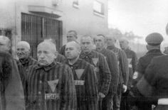 Prisoners in the concentration camp at Sachsenhausen