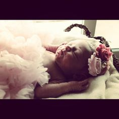 Baby girl newborn picture : ) most adorable little girl ever!