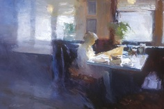 I would love to take an oil painting workshop with Dan McCaw. He has such a strong compositional sense that he stresses with light and dark forms. Morning Light, oil painting, 24 x Photo Humour, Academic Art, Painting Workshop, Southwest Art, Seattle Washington, Light Painting, Magazine Art, Figure Painting, Painting Techniques