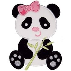 Little Panda Applique