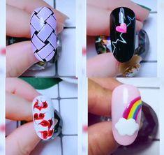 Nail Art Designs Videos, Fall Nail Art Designs, Nail Art Videos, Nail Art Hacks, Nail Art Diy, Cool Nail Art, Pop Art Nails, Acrylic Nails, Gel Nails