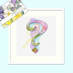 Question Mark Design, Pastel Colours, Modern Decor, Printable Art, Instant Download, Letter,Typography, Watercolour Print, Wall Art Poster ? Thing 1, Pastel Colours, Question Mark, Framed Prints, Art Prints, Watercolor Print, Printing Services, Printable Art, Modern Decor