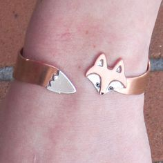 "wrap around #fox #bracelet. perfect for me - my boyfriend and I had our first date at the movies. we saw ""Fantastic Mr. Fox"" and ever since foxes hold a different meaning in my heart."