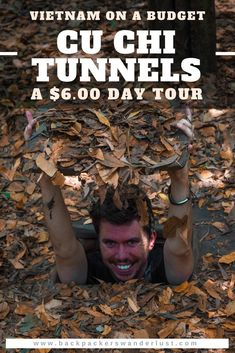 The Cheapest Tour Of The Cu Chi Tunnels, Ho Chi Minh City. Visiting the Cu Chi Tunnels is a must do when in Ho Chi Minh City. Though what is the best way to see the tunnels? I booked a $6.00 tour through a travel agency in District One which turned out amazing. Find out how much a tour costs of Cu Chi Tunnels, opening hours, locations and how to get there. #saigon #hochiminh #vietnam #southeastasia #asia #travel