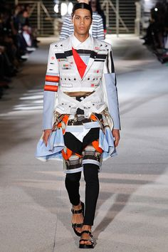 the sandals really make this outfit pop..... givenchy mens s/s 14 collection #givenchy
