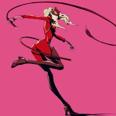 Persona 5 Whip Crack by ozkh on DeviantArt Persona 5 Ann, Persona Five, Character Design Girl, Character Art, Character Ideas, Poses Manga, Lady Ann, Shin Megami Tensei Persona, 5 Anime